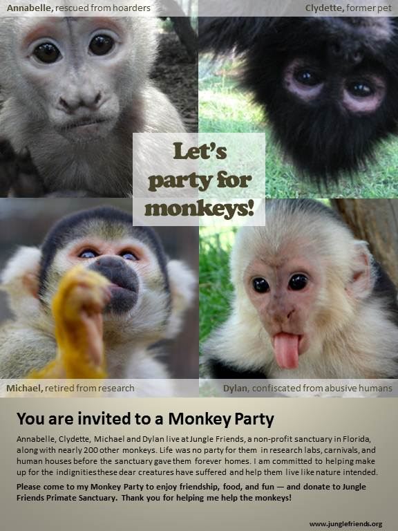 monkey party invitation